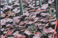 Bos met Paaltjes 1 (buiten) 1982 55x55