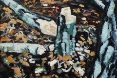 Omgehakte Berk 1994 40x40cm