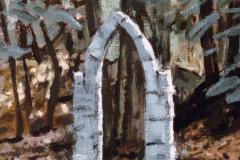 Poortje (buiten) 1985 50x50 cm *