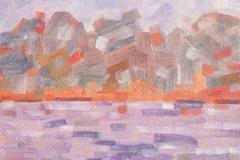 Water en bos (Naardermeer) 1976 45x45 *