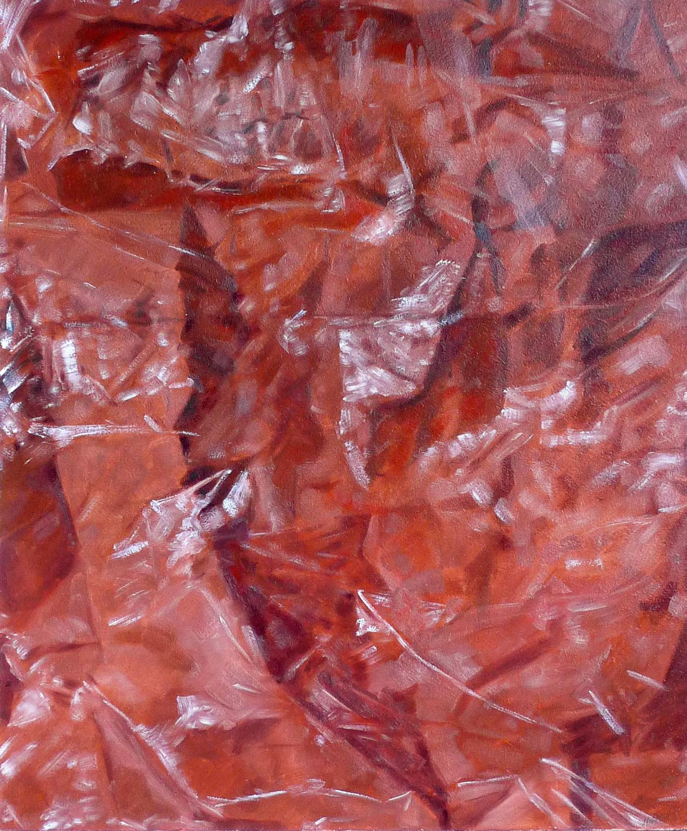 Rood papier in Plastic 1976 60x50