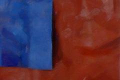 Blauw op Rood 1976 45x45